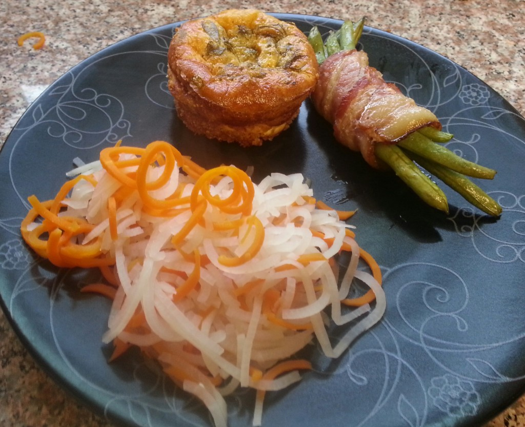 carrot noodles and turnip noodles