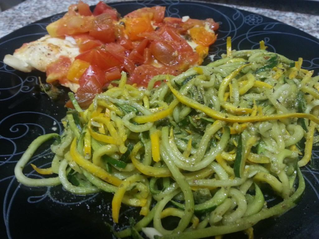Heirloom tomato and marjoram tilapia fillet recipe