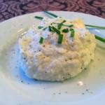 Cauliflower sour cream and chive mash