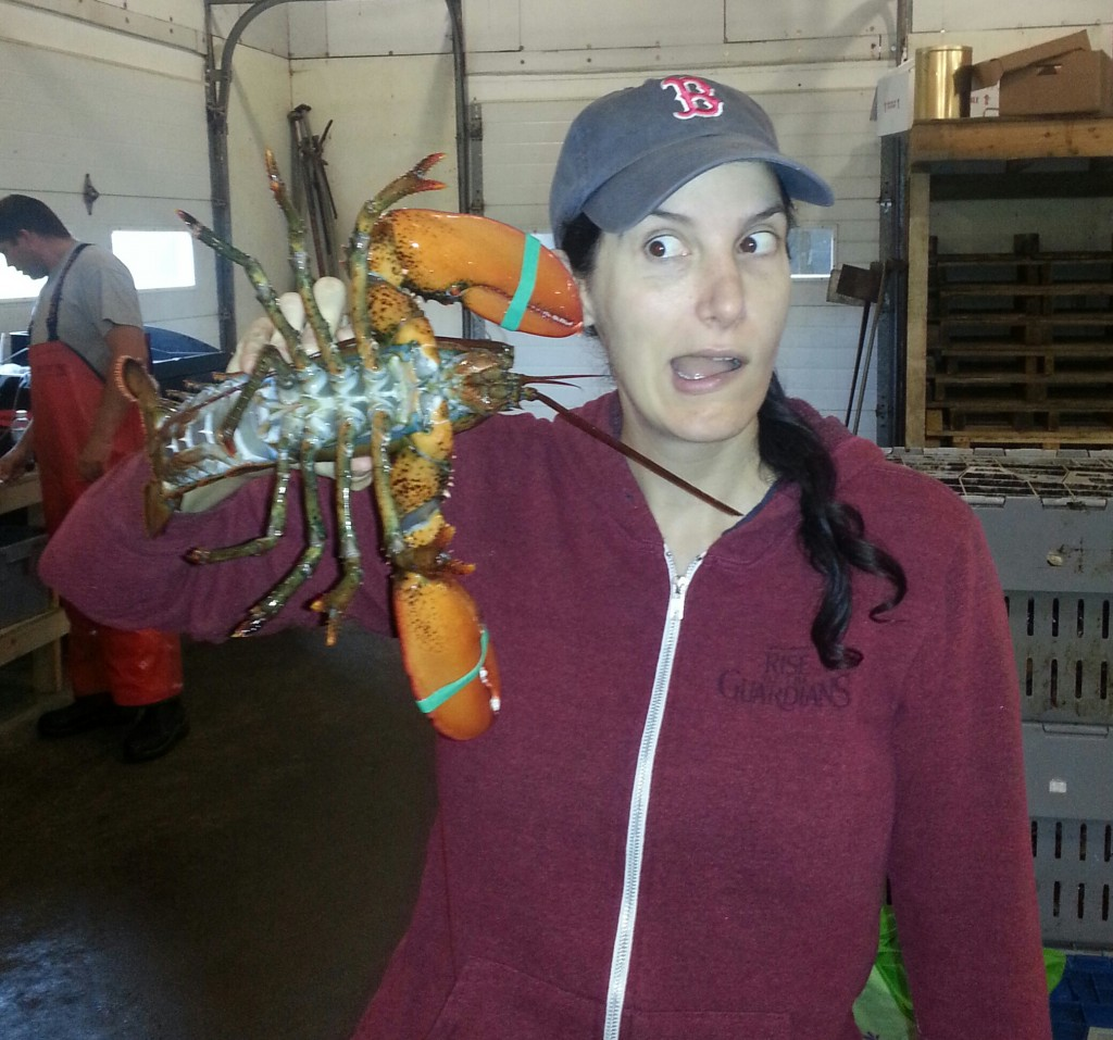 Me holding a lobster
