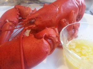 Lobster and butter