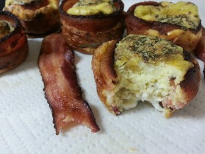 It is totally OK to sample the bacon and egg bacon muffins on a Sunday night