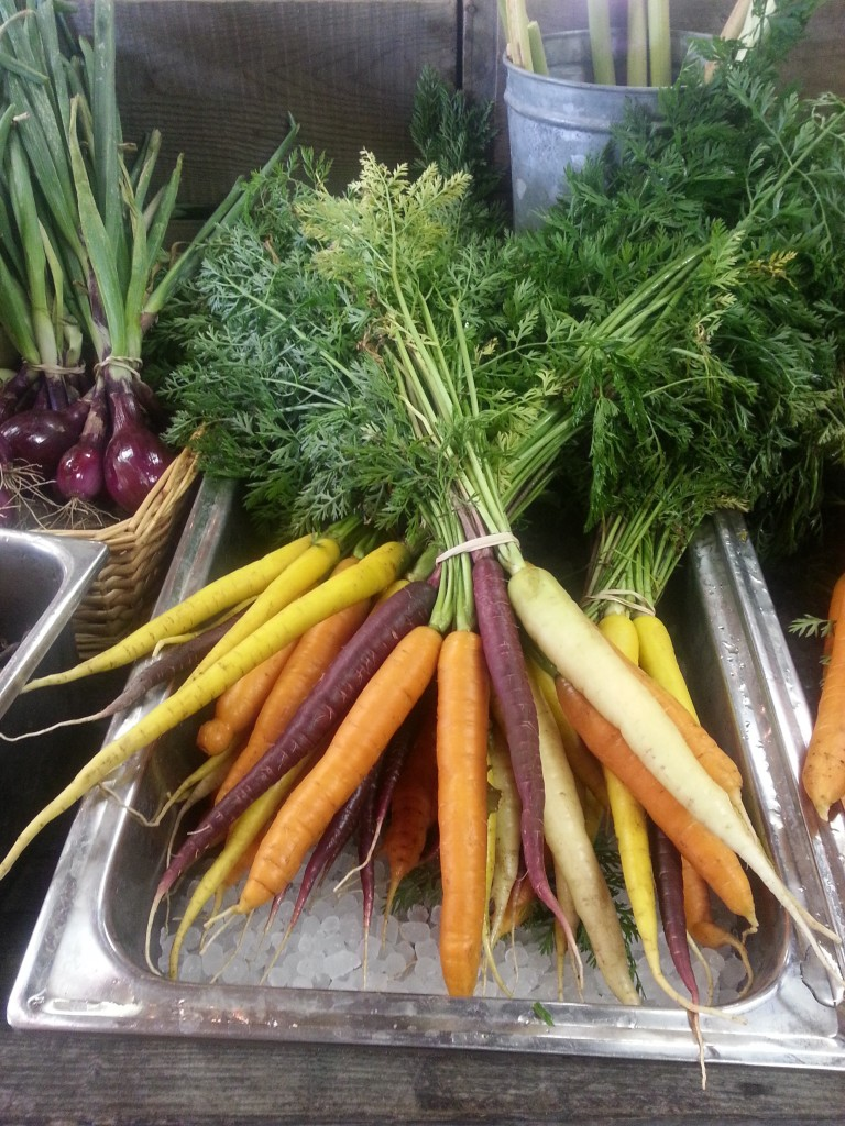 Beautiful multi colored carrots