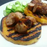 Recipe: Grilled Butternut Squash Patties with Sausage and Luffa