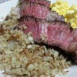 Meat, eggs, cauliflower. Low Carb Trifecta.