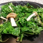 Brown Beech Mushrooms and Kale - The Happy Couple