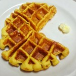 Pacman Pumpkin Waffle goes NOM NOM NOM
