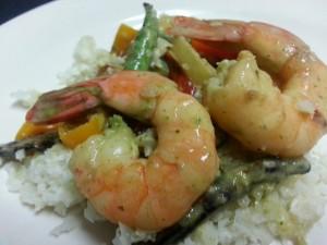 Low carb curry shrimp