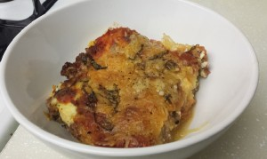 Spaghetti Squash Recipe - Spaghetti Squash Lasagna Finished in Bowl!
