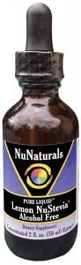 NuNaturals Liquid Stevia Lemon NuStevia Alcohol Free
