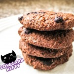 A sugar and gluten free, one carb per cookie recipe for low carb double chocolate chip cookies!