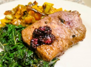 Blackberry Pork Chops