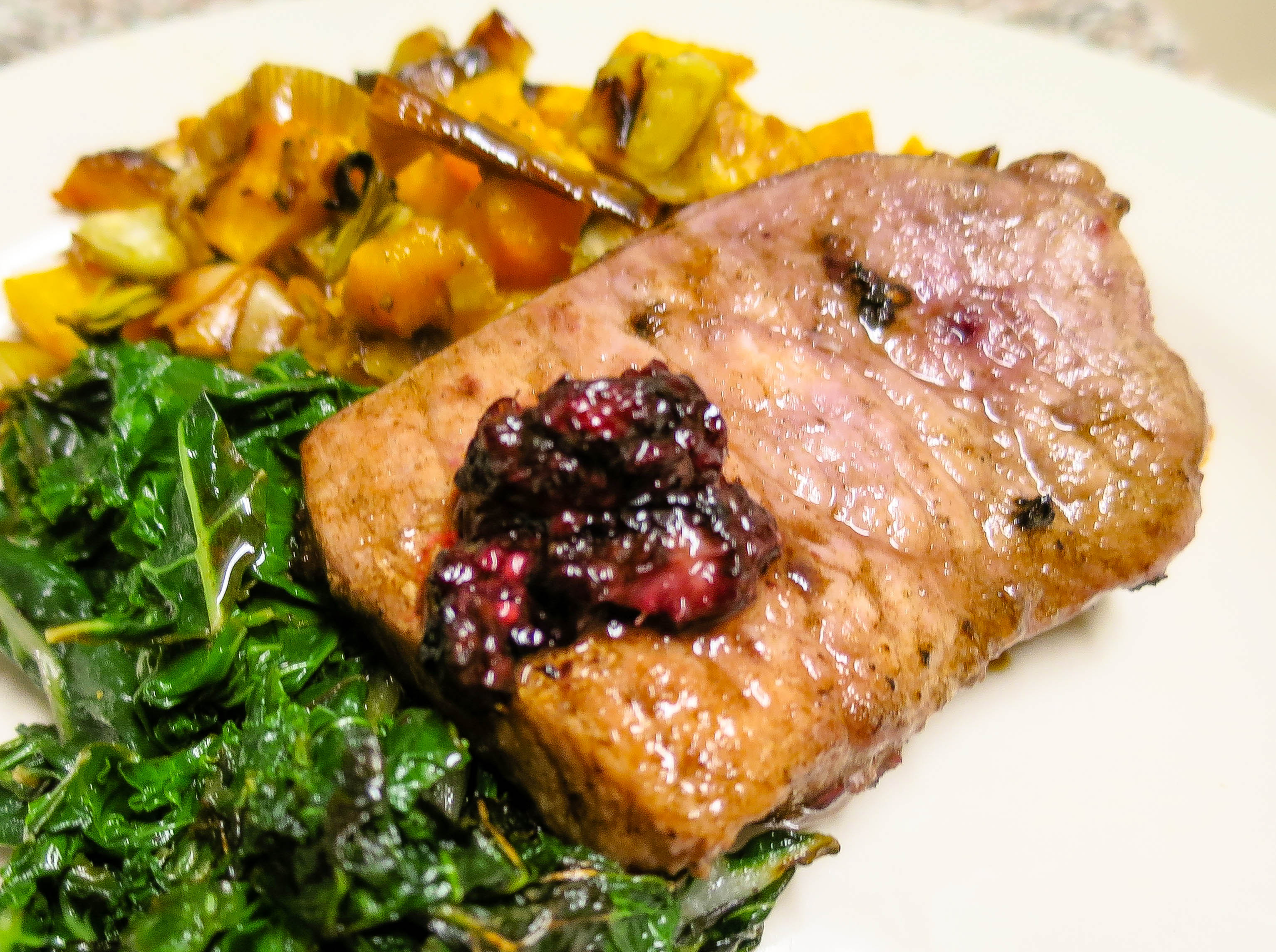 Recipe: Blackberry Pork Chops - Low Carb Kitty!