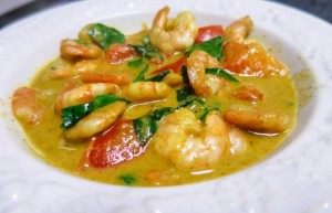 low carb seafood curry