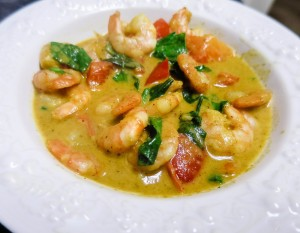 Low carb shrimp curry