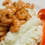Low Carb Cauliflower Mash with Shrimp