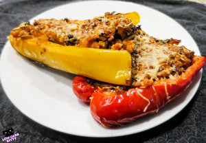 Low carb vegetarian stuffed peppers