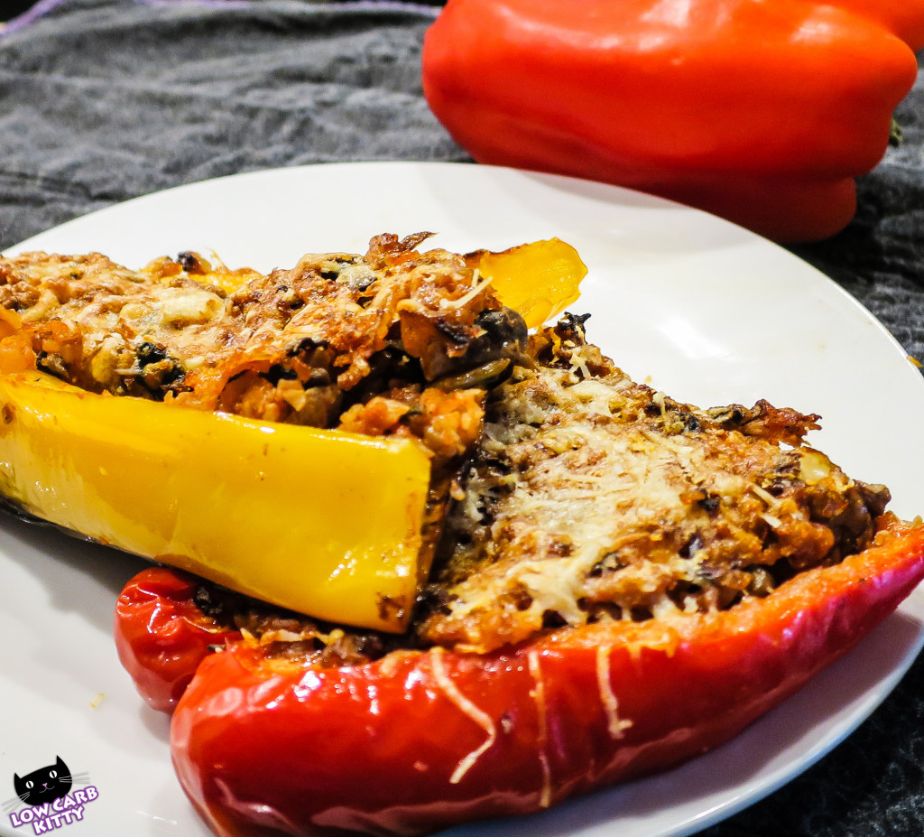 Recipe low carb vegetarian stuffed peppers - Recette low carb ...