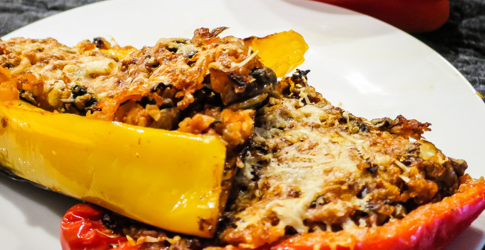 Recipe: Low carb vegetarian stuffed peppers
